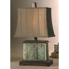 lamp uttermost slate table lamp with distressed mahogany details welsh lamps