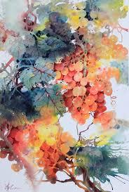 lian quan zhen orange gs watercolour watercolor painting techniqueswatercolor