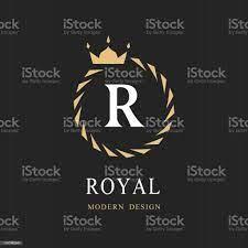 Lambang Huruf Awal R Heraldic Royal Frame Dengan Crown Karangan Bunga  Laurel Abstrak Lambang Klasik Sederhana Komposisi Bulat Gaya Grafis Elemen  Art Untuk Desain Logo Ilustrasi Vektor Ilustrasi Stok - Unduh Gambar