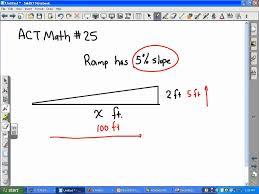 act math slope ramp problem