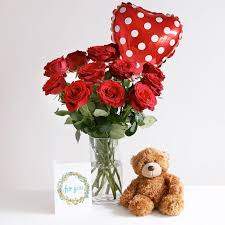 sweet love gift set surprise your valentine with a little more than roses this gift set includes 12 of our beautiful velvety red burgundy roses