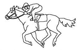 Thoroughbred Horses Galloping Horse Coloring Page Of Race Horse