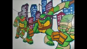 Ninja Turtle Bedroom Teenage Mutant Ninja Turtles Mural Painting Time Lapse Youtube