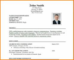 9 Formal Cv Layout Mael Modern Decor