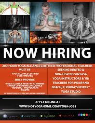 Flyer Jobs Now Hiring Flyer Hot Yoga Home Yoga Home