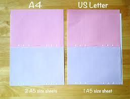 letter size sheets a4 vs letter size paper comparison for filofax inserts lime tree