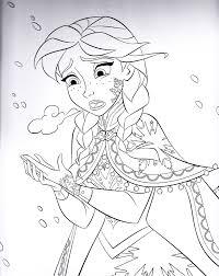 Walt Disney Coloring Pages Princess Anna Personnages De Walt