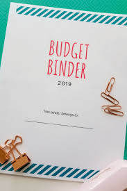 Binder Cover Page Free Budget Binder Printables Make Saving Money Easy