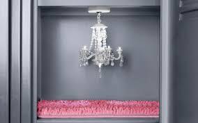 image of locker chandelier black