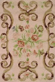 rose wool micro hooked rug