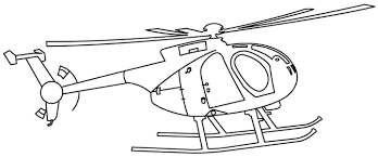 Helicopters With A Large Rotor Blades Helicopters Coloring Pages