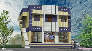 home with ground floor shops in 2000 sq feet kerala home design