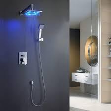 bathroom shower lighting. delighful lighting bathroom shower tile ideas luxury overhead wall mounted waterfall rain  heads with led vanity lighting on