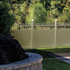 vinyl fence panels lowes. Shop FREEDOM Ready-to-Assemble Manchester Sand Gothic Semi-Privacy Vinyl Fence Panel Panels Lowes D