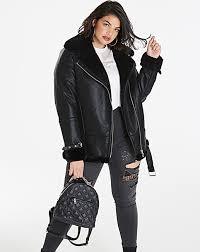 luxe pu aviator coat cud 91262 new style women
