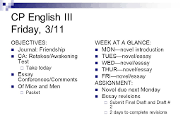 quarter week journalism monday objectives performance  13 cp