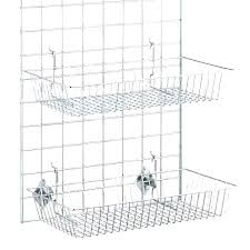 beneficial wire basket with hooks e60164 wire basket with hooks farmhouse industrial large metal wire wall