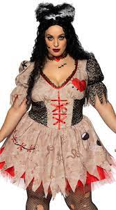 plus size deadly voodoo doll costume