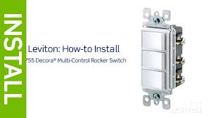 leviton presents how to install a decora combination device with three single pole switches