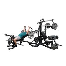 Body Solid Sbl460p4 Exercise Chart Sbl460p4 Freeweight Leverage Gym Body Solid Fitness