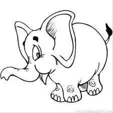 Cartoon Elephant Coloring Pages With Cartoon Elephant Coloring Pages