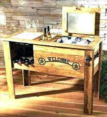 wooden outdoor cooler box backyard cooler wooden patio cooler awesome plans or old pallet wood ice