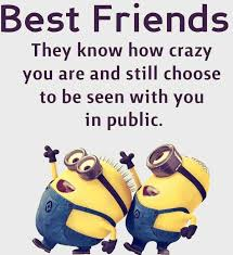 Funny Best Friend Quotes Enchanting Top 48 Funny Minions Friendship Quotes