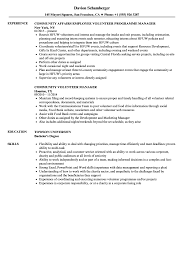 Community Volunteer Resume Samples Velvet Jobs