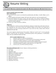 Objective Of Resume For Internship Objective On Resume For College Student 60
