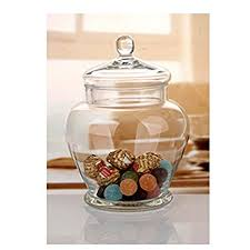 Decorative Jars With Lids Amazon Elegant Clear Glass Apothecary Jar with Lid 60inch 2