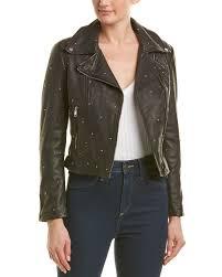 lamarque studded leather jacket