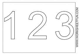 Small Picture Numbers Coloring Page Clip Art For Number 2 Educations Printable