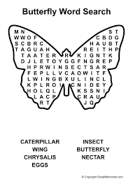 word for black and white word search butterfly a4 jpg