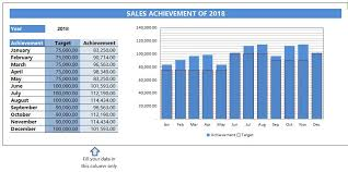 Target Sales Chart Wps Template Free Download Writer Presentation