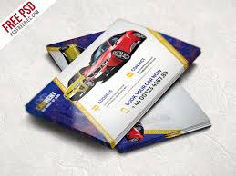 Car Dealer Business Card Template Free PSD | PSDFreebies.com
