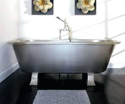 alcove tubs medium size of picturesque stainless steel bathtub two sided dog grooming kohler tub archer