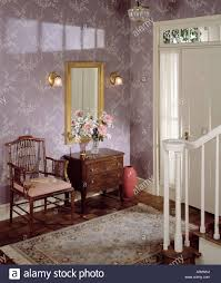 rug on carpet in hallway. Interior Room Front Door Entry Entrance Hall Hallway Stairs Rug Carpet Wall Mirror On In S