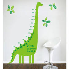 Wall Decal Size Chart Double Color Dinosaurs Growth Chart Wall Decal Growth Chart