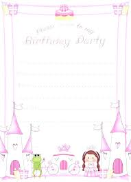 free printable birthday party invitations for girls childrens party invitation template boy birthday invitation