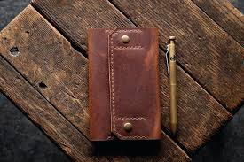 leather checkbook wallets wallet handmade business checks holder craft and lore fossil mens leather checkbook wallets
