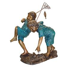 image is loading design toscano double trouble fishing boys cast bronze