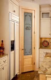 8/0 Birch Pantry Door with panel below. traditional-kitchen