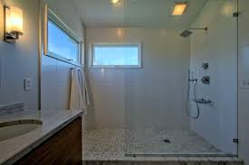 bathroom windows inside shower. Open Concept Shower, With Glass Partition And No Door, Windows Inside Shower Contemporary- Bathroom Houzz
