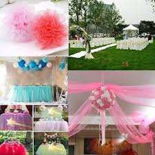 details about 6 x 25yd tulle roll spool tutu wedding party gift wrap fabric craft decorations
