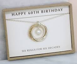 60th birthday gift idea june birthday gift pearl necklace for 60th lilia