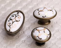 rustic knobs and pulls. rustic cabinet knobs ceramic / dresser pulls drawer handles white and w
