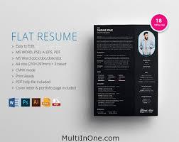 Modern Resume Template Free Download Docx Flat Resume Psd Ai Eps Pdf Docx Free Download Mockups Resume