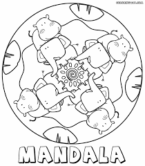 Small Picture Mandala coloring pages for kids Coloring pages to download and print