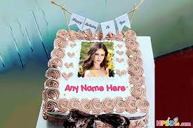 lovely birthday cake with names and