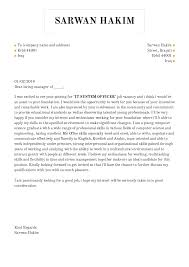 Educator Cover Letter Cover Letter Examples By Real People It Assistant Lecturer